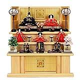 雛人形 大川組子 台屏風 3段飾り 5人 三段飾り ひな人形 お雛様 初節句飾り お祝い