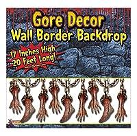 (6.1m, Border, Bloody Limbs) - Forum Novelties Gore Decor Roll Indoor/Outdoor Bloody Limbs Wall Border, 6.1m, Multicolor