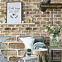 寝室のインテリアリビングルームの壁紙リムーバブル壁紙ステッカーライトイエローレンガの壁紙スティックとピールBバックスプラッシュキッチンキャビネットのためのお問い合わせ用紙 45 cm x 3 m