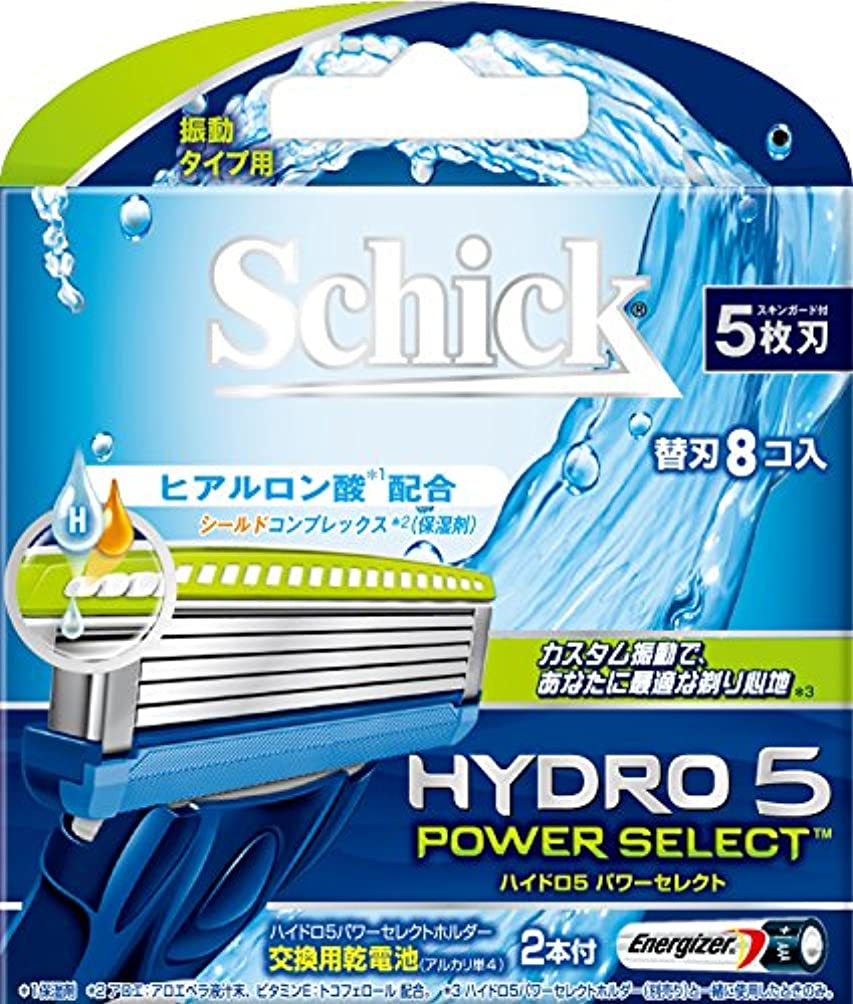 操作可能公然と凍ったシック ハイドロ5 パワーセレクト替刃 8コ入