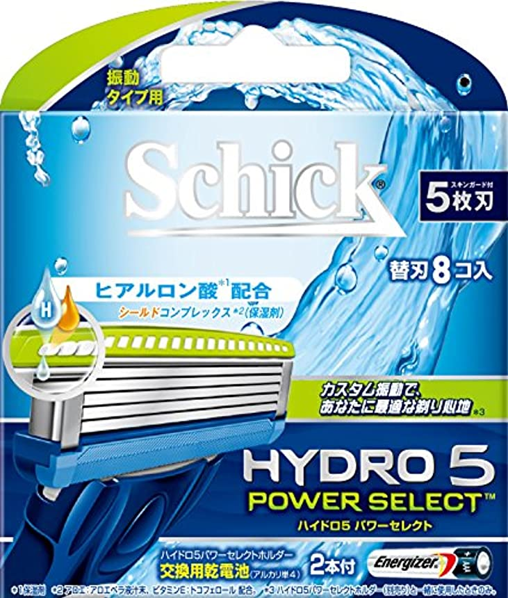 どうやら有害排除するシック ハイドロ5 パワーセレクト替刃 8コ入