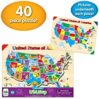 The Learning Journey Lift & Learn USA Mapパズル