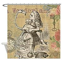 CafePress–Alice in Wonderland Flamingo–装飾ファブリックシャワーカーテン