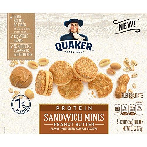 Quaker Peanut Butter Biscuit Bites クエーカーピーナッツバタービスケットバイツ170g [並行輸入品]