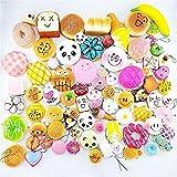 10個セットフード パンダ パン トースト ミニドーナツ 携帯ストラップチャーム キッズ おもちゃ ギフト ランダムミックス