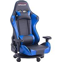 TOPRACING ゲーミング座椅子 360度回転 ゲーミングチェア155度リクライニング ハイバック 可動肘 ヘッドレ…