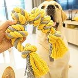 犬おもちゃ 犬用噛むおもちゃ玩具 犬ロープおもちゃ 中型犬 大型犬 ペット用 丈夫 天然コットン ストレス解消 運動不足…