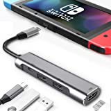 HDMI Adapter Type C Hub for Nintendo Switch,Portable Nintendo Switch Dock Set for TV,4K HDMI Converter for Nintendo Switch,Sa