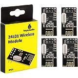 KEYESTUDIO 4個 DC 3.3V 無線 NRF24L01 送信 受信機 モジュール 2.4GHz ワイヤレス トランシーバ キット for Arduino アルディーノ アルデュイーノ アルドゥイーノ キット 電子部品 セット