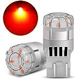 SUPAREE T20 ダブル球 LED テールランプ ブレーキランプ LEDバルブライト レッド 爆光 DC12V 国産車対応 無極性 2個入り