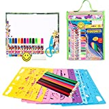 Victostar Stencil Drawing Kit Art Set for Kids Educational Toy to Enhance Children Creativity and Travel Activity Kit with over 300 Shapes Ideal Gift for Boys and Girls 【You&Me】 [並行輸入品]