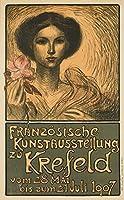 Franzosische KUNSTAUSSTELLUNG zuクレーフェルトヴィンテージポスター(アーティスト: Steinlen )フランスC。1907年 24 x 36 Giclee Print LANT-61550-24x36