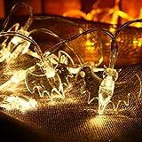 Gledto イルミネーションライト ハロウィン蝙蝠飾りライト 2.2m20LEDライト ロマンチック雰囲気 ハロウィン クリスマス