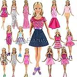 「Barwawa」全32種よりランダム5枚セット バービー 服 ドレス バービー用靴10ペア 手作り ジェニー ワンピース ドール用 人形用 ジェニー ドレス アクセサリー 1/6ドール用 プリンセスドレス