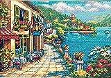 """ディメンジョンズ クロスステッチ 刺繍キット""""見晴らしの良いカフェ"""" DIM クロスステッチキット Overlook Cafe [並行輸入品]"""