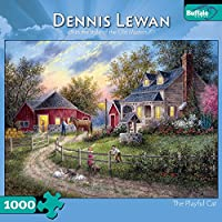 Dennis Lewan The Playful Cat 1000 pieces Jigsaw Puzzle [並行輸入品]