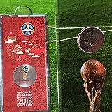 FIFA公式 ロシア銀行発行 2018年 ワールドカップ 公式記念カラーコイン 直径約27ミリ 額面25ルーブル