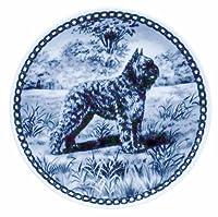デンマーク製 ドッグ・プレート (犬の絵皿) 直輸入! Bouvier des Flandres / ブービエ・デ・フランダース