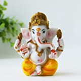 "BangBangDa Ganesh Statue for Car Dashboard 3.5"" H Yoga Meditation Figurine Fengshui Indian Buddha Lord Ganesha Statue Hindu G"