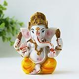 "BangBangDa Ganesh Statue for Car Dashboard 3.5"" H Yoga Meditation Figurine Fengshui Indian Buddha Lord Ganesha Statue Hindu G"