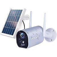 【2021最新型・ソーラーパネル付き電池式カメラ】A-ZONE 防犯カメラ 1080P 200万画素ワイヤレスカメラ 1…