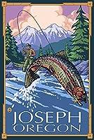 Joseph , Oregon–Fisherman 24 x 36 Giclee Print LANT-20185-24x36