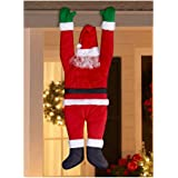 Christmas Hanging Santa Suit from on The Gutter Roof Outdoor Decoration Big 5FT