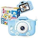 [Amazon限定ブランド] ピントキッズ ネコトイカメラ キッズカメラ 安全ストラップ付 (ソーダ)