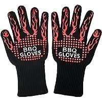 VIKEEPRO 耐熱グローブ バーベキューグローブ BBQ専用手袋 最高防耐熱温度500℃(932 °F)耐熱防水 滑り止め2個セット