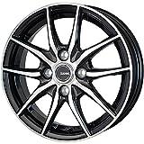 【適合車種:トヨタ アクア(10系 16インチ装着車)2011〜 サマータイヤセット】 DUNLOP エナセーブ EC203 175/65R15 夏用タイヤとホイールの4本セット アルミホイール:HOT STUFF Gスピード P02_メタリックブラックポリッシュ 5.5-15 4/100 (15インチ サマータイヤセット)