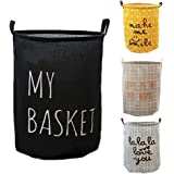 VR HOME Fashion Collapsible Laundry Baskets Fabric Washing Basket Laundry Hamper 63L Capacity (MY BASKET)