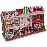Kurt S. Adler 10-Inch Santa Village Stores with LED Lights Gingerbread House, Multi