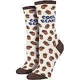 Socksmith Women's Cool Beans Ivory Heather Novelty Crew Socks