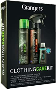 Grangers Outdoor Clothing Care Kit/Complete Cleaning and Waterproofing for Outerwear