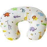 Nursing Pillow - Breastfeeding Pillow with 100% Organic Cotton Cover - Comfortable Baby Feeding Pillow - Tummy Time Pillow, O