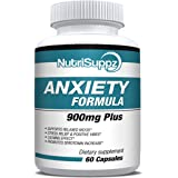Anti Anxiety Supplement 900mg With Gaba, L-Theanine, 5-HTP, Ashwagandha, Magnesium Oxide, St. John's Wort, Chamomile - Positi