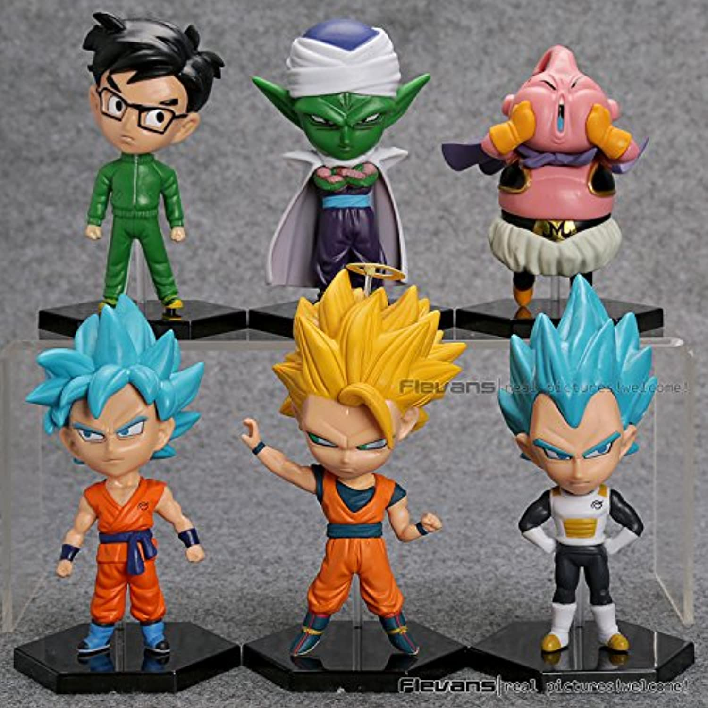 ドラゴンボールZ Resurrection F Son Goku Vegeta Buu Piccolo PVCアクションフィギュアおもちゃ人形6pcs /セットdbfg243
