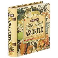 バシラーティー BASILUR TEA マジックフルーツ アソートブック缶 紅茶のフルーツフレーバー ティーバッグ 4種セット32袋入り