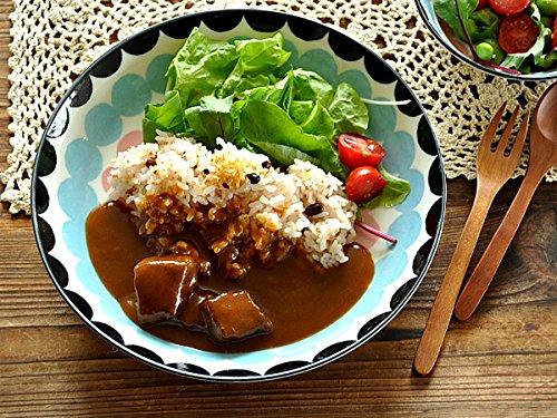 【M'home style】洋食器 ポルカドット22.4cm深皿