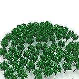 森林 選べる サイズ 【DauStage】 Nゲージ ジオラマ 材料 鉄道 建築 模型 用 樹木 風景 緑 100本 (02,緑 3.5㎝ 100本)