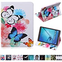 Galaxy Tab S2 9.7 Case,UUcovers(TM)Slim Fit Premium Vegan Leather Cover with Colorful Painting for Tab S2 9.7 T810/T815 Tablet (Colorful Butterfly) [並行輸入品]