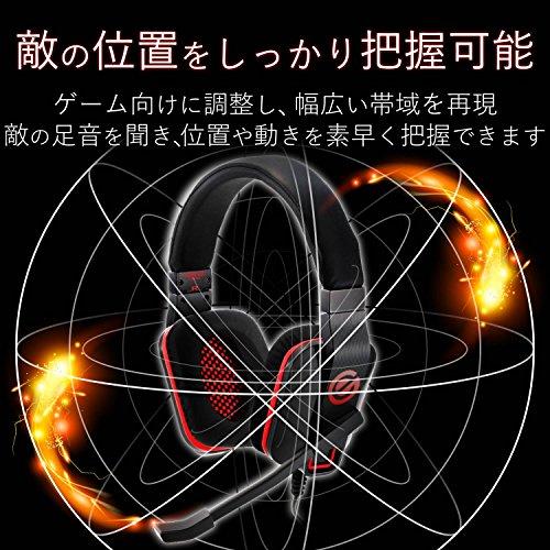 『エレコム ゲーミングヘッドセット ヘッドホン 軽量×やわらかイヤーパッド 長時間のプレイも快適 ブラック ECHS-G01BK』の2枚目の画像