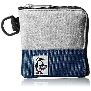[チャムス]財布 Square Coin Case Sweat Nylon H-Gray/Basic Navy