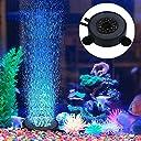 水族館 空気石 水槽気泡ストーン 丸形 バブルメイト 水槽装飾 水槽用 エアストーン 細かい気泡が出す いぶきエアーストーン 酸素補給される LED水槽ライト付き (12個)