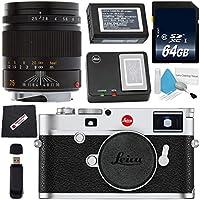 Leica M10デジタルレンジファインダーカメラ(ブラック)+ライカスーパーエルマー-M 18mm f/3.8 ASPH. レンズ+ 77mm フィルター3点キット + 64GB SDXC カード + カードリーダー + マイクロファイバークロスバンドル