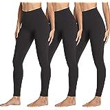 yeuG 3 Pack Black Leggings for Women - High Waisted Leggings Tummy Control Yoga Pants