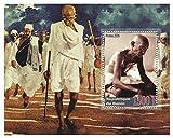 マハトマ?ガンジーは2005 /ベナン/コレクターのためのインドの国家主義のアイコンスタンプシートにスタンプ