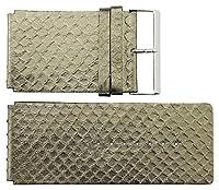 MoogパリシルバーCalfレザーバンド交換用、スネークスキンパターン、ピン留め金、40mmストラップ_ b40001