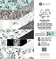 "Prima Marketing Double-Sided Paper Pad 12""X12"" 24/Pkg-Flirty Fleur, 6 Foiled Designs/4 Each"