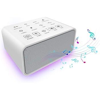 ホワイトノイズ 快眠グッズ 自然音 ベビー睡眠誘導マシン USB給電 MANLI サウンドマシン スピーカー タイマー&メモリ機能 イヤンにも対応 良眠 赤ちゃんを快眠に誘う